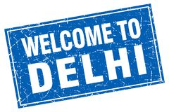 Welcome to Delhi stamp Royalty Free Stock Images