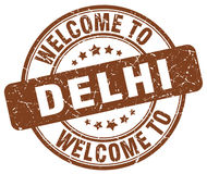 Welcome to Delhi stamp Stock Photos