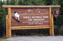 Welcome to Denali National Park Stock Image