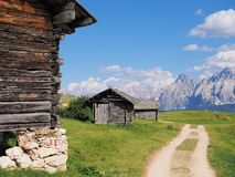 Welcome to the Dolomites. royalty free stock images