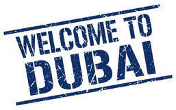 Welcome to Dubai stamp. Welcome to Dubai square grunge stamp Royalty Free Stock Photo