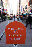 Welcome to East 4th Street, Cleveland, Ohio Stock Image
