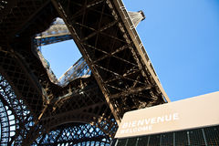 Welcome to Eiffel Tower Stock Image