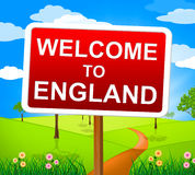 Welcome To England Shows United Kingdom And Greetings Stock Photo
