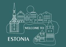 Welcome to estonia Royalty Free Stock Photography