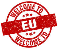 Welcome to eu stamp Stock Image