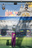 Welcome to euro cup 212  in Kiev! Stock Photos