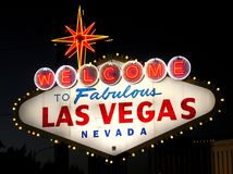The Welcome to Faboulous Las Vegas Nevada sign royalty free stock photos
