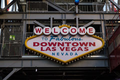 Welcome to Fabulous Downtown Las Vegas Royalty Free Stock Photography