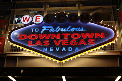 Welcome to Fabulous Downtown Las Vegas sign at Fremont Street Royalty Free Stock Photo