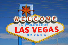 Welcome to Fabulous Las Vegas Nevada Royalty Free Stock Photography