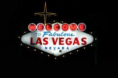 Welcome to Fabulous Las Vegas Nevada at dusk Royalty Free Stock Photos