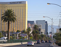 A Welcome to Fabulous Las Vegas, Nevada. LAS VEGAS, NEVADA, MAY 24. Las Vegas Boulevard on May 24, 2016, in Las Vegas, Nevada. A view of the south end of Las Royalty Free Stock Images