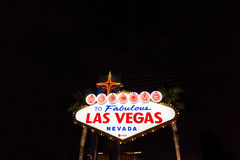 Welcome to Fabulous Las Vegas Nevada neon sign. LAS VEGAS, NEVADA - SEPTEMBER 27, 2016: Welcome to Fabulous Las Vegas Nevada neon sign Stock Photography