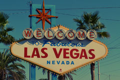 Welcome to Fabulous Las Vegas Nevada Signage Stock Image