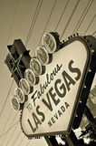 Welcome to fabulous Las Vegas (retro style) Stock Photo