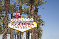 Welcome to Fabulous Las Vegas Sign. Welcome to Fabulous Downtown Las Vegas Sign Royalty Free Stock Photography