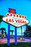 Welcome to Fabulous Las Vegas sign Stock Images