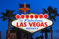 Welcome to Fabulous Las Vegas sign Royalty Free Stock Photos