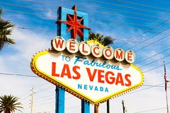 The Welcome to Fabulous Las Vegas sign Stock Image