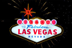 Welcome to Fabulous Las Vegas sign Royalty Free Stock Photo