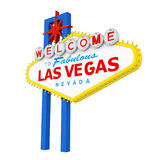 Welcome to Fabulous Las Vegas Sign Isolated. On white background. 3D render Royalty Free Stock Photography