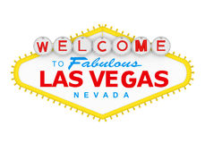 Welcome to Fabulous Las Vegas Sign Isolated Stock Photography