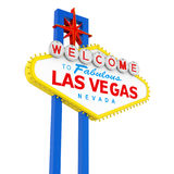 Welcome to Fabulous Las Vegas Sign Isolated Royalty Free Stock Photos