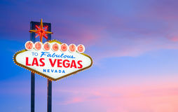The Welcome to Fabulous Las Vegas sign in Las Vegas Stock Photography