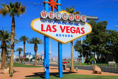 Welcome to Fabulous Las Vegas sign, Nevada Royalty Free Stock Images