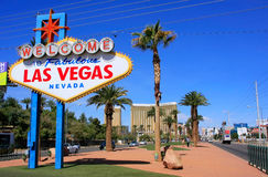 Welcome to Fabulous Las Vegas sign, Nevada Royalty Free Stock Photography