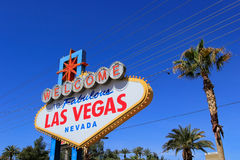 Welcome to Fabulous Las Vegas sign, Nevada Royalty Free Stock Image