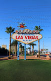 Welcome to Fabulous Las Vegas Sign Royalty Free Stock Image