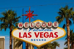 Welcome to Fabulous Las Vegas sign Royalty Free Stock Images