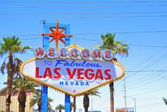 Welcome to fabulous las vegas sign Stock Photography