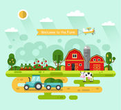 Welcome to the Farm! Royalty Free Stock Images