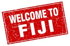 Welcome to Fiji stamp. Welcome to Fiji square grunge stamp Royalty Free Stock Photos