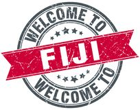 Welcome to Fiji stamp. Welcome to Fiji round grunge stamp isolated on white background. Fiji Royalty Free Stock Images