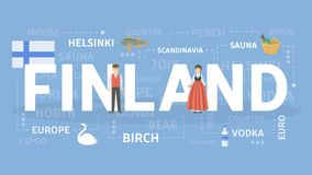 Welcome to Finland. Visit scandinavian cultural center Stock Images