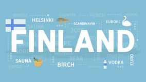 Welcome to Finland. Visit scandinavian cultural center Royalty Free Stock Photo