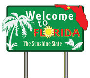 Welcome to florida vector illustration
