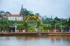 Welcome to Flower Park in Dalat, Vietnam Royalty Free Stock Images