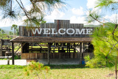 Welcome to form sign at form Royalty Free Stock Photography