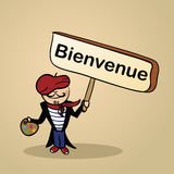Welcome to france people design Stock Photo