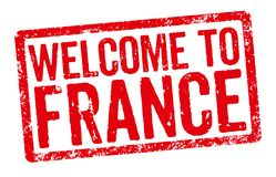 Welcome to France Stock Image