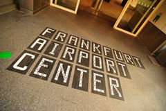 Welcome to the Frankfurt airport Stock Photography