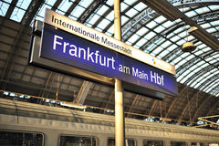 Welcome to Frankfurt train station Royalty Free Stock Image
