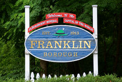Welcome to Franklin, NJ Stock Photo
