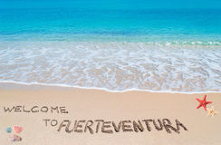 Welcome to fuerteventura Royalty Free Stock Image