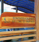 Welcome To Galapagos Sign Stock Photography